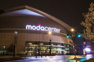 Portland's Moda Center, home of the NBA Trail Blazers. Credit all photos: Moda Center (click on any photo for a larger image)