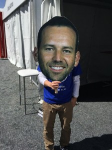 At the WGC social media tent. They wouldn't let me carry this on course to hold behind Sergio.