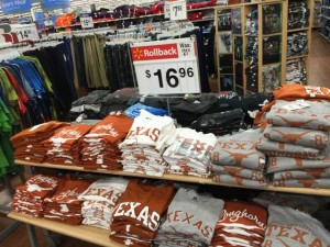 Bargains available at the AT&T Stadium Walmart.