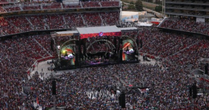 Grateful Dead stage view