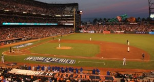 AT&T Park during the World Series. Photo: SF Giants (click on any photo for a larger image)
