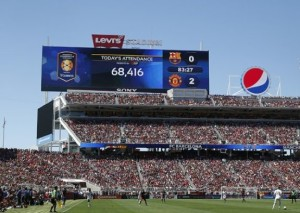 ManU and Barca at Levi's Stadium. All photos: Levi's Stadium.