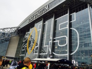 AT&T Stadium at College Football Playoff championship game. Photo: Paul Kapustka, MSR