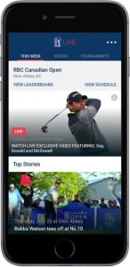 Screen shot of PGA TOUR LIVE service on iPhone. Photo: PGA Tour