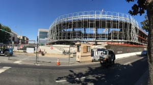 Golden 1 Center in Sacramento taking shape earlier this summer. All photos: Paul Kapustka, MSR (click on any photo for a larger image)