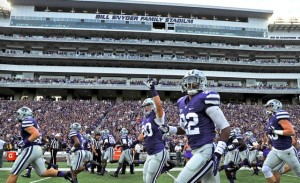 The WIldcats take the field at Bill Snyder Family Stadium. All photos: Kansas State website. (click on any photo for a larger image)