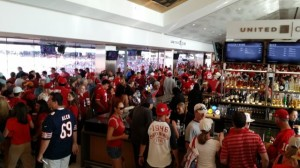 Niners fans at the Levi's Stadium United Club during a 2014 game. Photos: Paul Kapustka / MSR