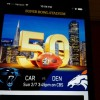Screenshot of home page of Super Bowl 50 stadium app. (Click on any photo for a larger image)