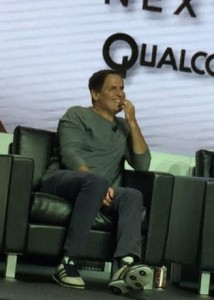 Mark Cuban during CES panel. All photos: Paul Kapustka, MSR