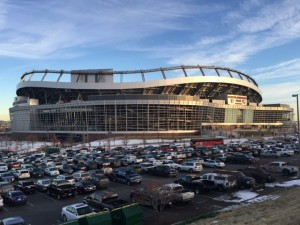 Sports Authority Field at Mile High, during Jan. 3 game vs. San Diego. All photos: Paul Kapustka, MSR (click on any photo for a larger image)