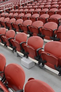 New Verizon Wireless under-seat DAS antenna placement at Levi's Stadium. Photo: Verizon Wireless