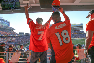Broncos fans celebrate during Super Bowl 50 at Levi's Stadium. Photo: LevisStadium.com