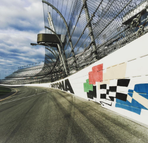 The famed banked track at Daytona International Speedway. Photo: Daytona International Speedway