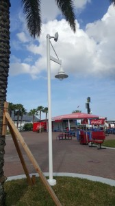 Wi-Fi antenna on light pole at Daytona. Photo: Arris