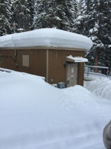 New AT&T DAS headend building at Winter Park ski area. No problem keeping equipment cool here! All photos: AT&T