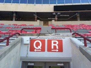 Wi-Fi install over a VOM at Camp Randall (click on photo for a larger image)