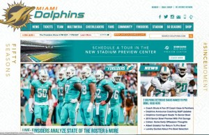 The team website was just one of the vehicles the Miami Dolphins used in their multi-platform social media campaign for the hiring of Adam Gase. All images: Miami Dolphins (click on any photo for a larger image)