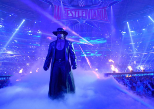 The Undertaker arrives at AT&T Stadium for WrestleMania 32. Photo: WWE.com