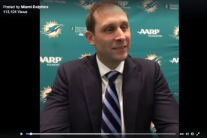 Live video was another of the Dolphins' social-media tactics