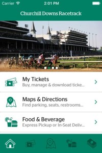 Screenshot of new Kentucky Derby app built by VenueNext for Churchill Downs.