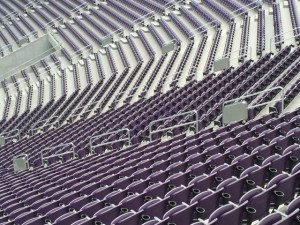 Wi-Fi handrail enclosures at U.S. Bank Stadium, Minneapolis, Minn. Credit: Paul Kapustka, MSR