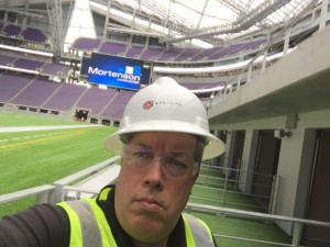 MSR editor Paul Kapustka via selfie from the field-level suites at US Bank Stadium.