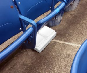 Under-seat Wi-Fi AP at Ralph WIlson Stadium