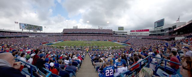 Ralph Wilson Stadium in Buffalo. Credit: AP Photo/Scott Boehm