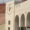 DAS antennas visible on the LA Coliseum's facade