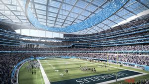 Artist rendering of the proposed new LA football stadium
