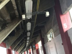 DAS antennas inside the concourse