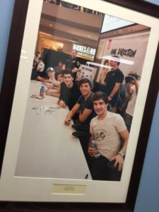 How many malls do you know that have a One Direction tribute photo? Credit: Paul Kapustka / MSR