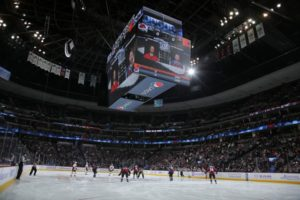 Denver's Pepsi Center in hockey configuration. Credit: Doug Pensinger/Getty Images)
