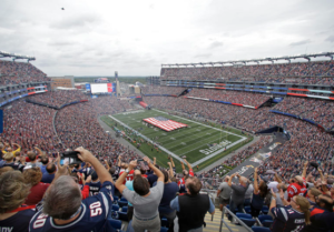 Gillette Stadium before the Sept. 11 game vs. the Miami Dolphins. Credit: Steve Milne, AP, via Patriots.com