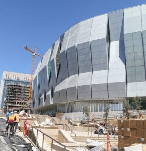 Golden 1 Center nears completion. Credit: Golden 1 Center