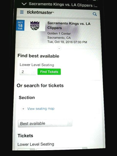 Ticketmaster integration