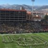 View of the west stands at Folsom Field, home of the University of Colorado football team. Credit all photos: Paul Kapustka, MSR (click on any photo for a larger image)