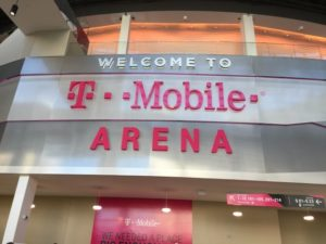 Inside the main doors to T-Mobile Arena.