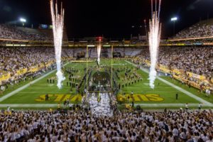 Sun Devil Stadium at Arizona State. Credit all photos: ASU