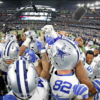 The Dallas Cowboys before taking the field against the Green Bay Packers in a Jan. 15 playoff game. Credit: James D. Smith/Dallas Cowboys