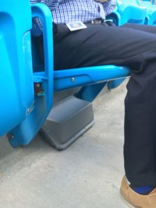 Under seat Wi-Fi AP at Bank of America Stadium. Credit: Carolina Panthers