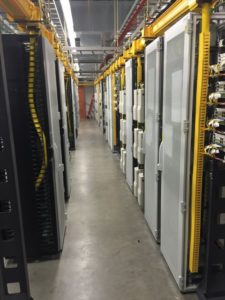 A view inside the head end room that runs Verizon's NRG Stadium DAS. Credit: Verizon Wireless