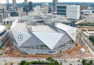 At t to provide backbone bandwidth for mercedes benz for Hotels near mercedes benz stadium