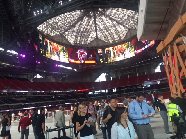 An inside look at the Atlanta Falcons' new stadium