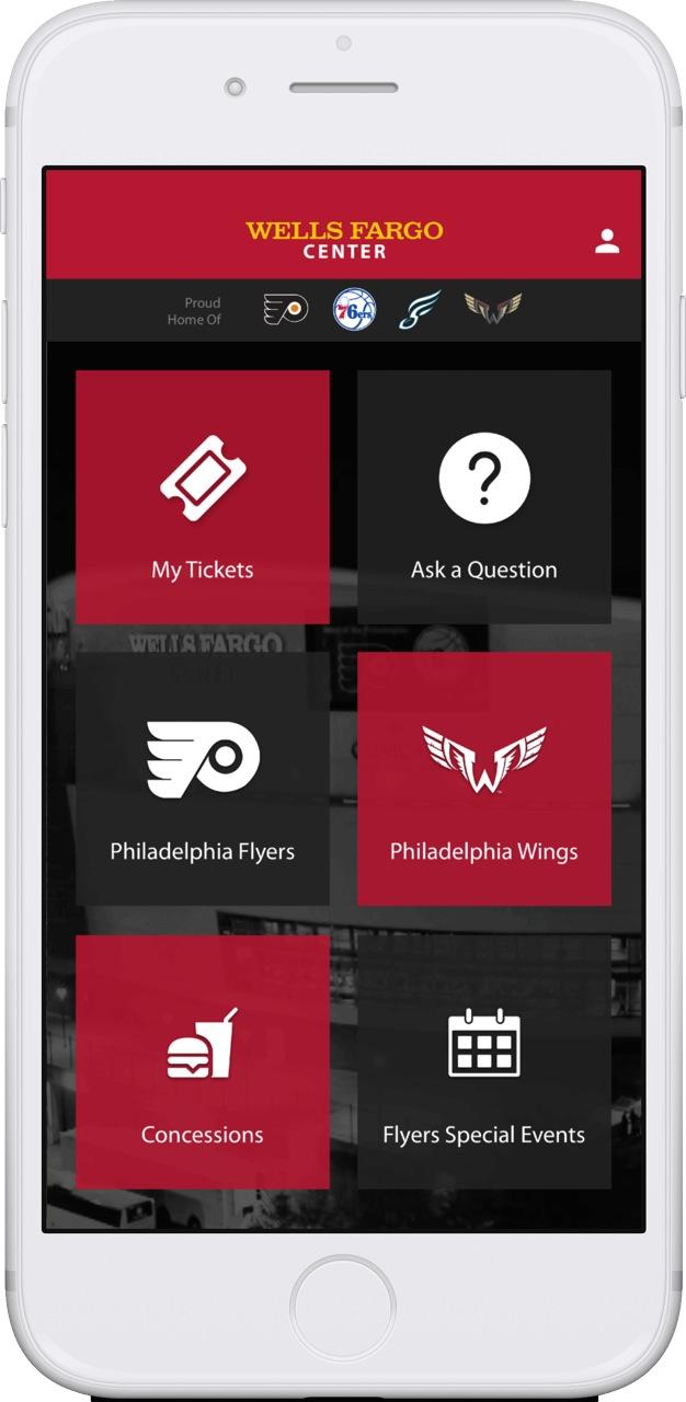 philadelphia flyers pick venuetize for new stadium app